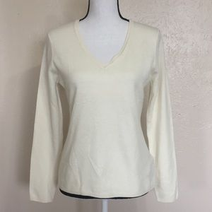 Lord & Taylor 100% Cashmere V Neck Top